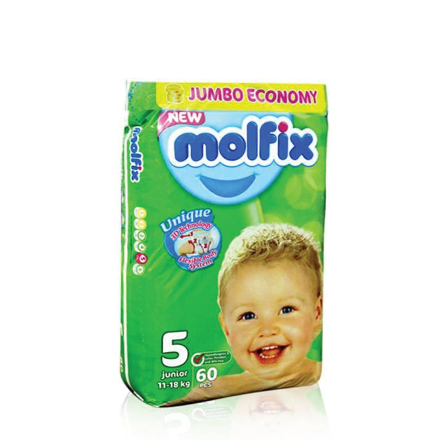 Molfix Jumbo Pack 5 Junior 11 - 18 Kg (60)