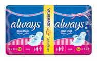 Always Maxi Thick Long No Stain 18 Pads