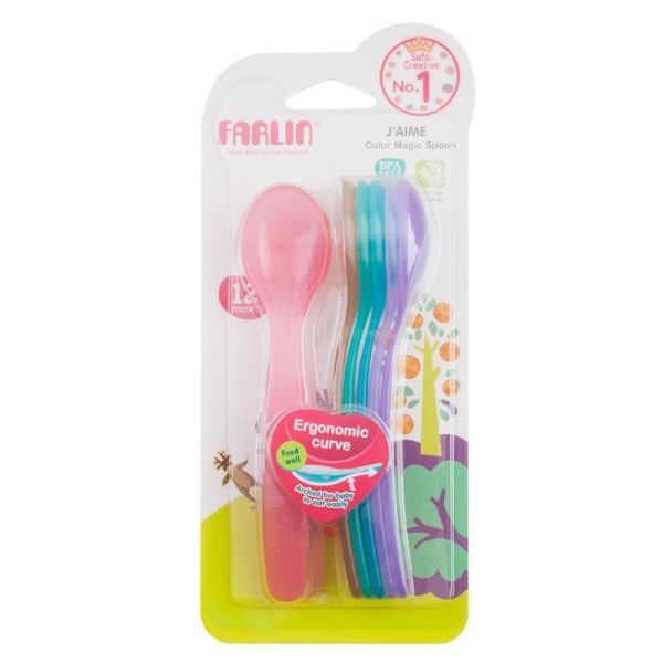 Farlin Color Magic Spoon 12+month Set of 7 Spoons