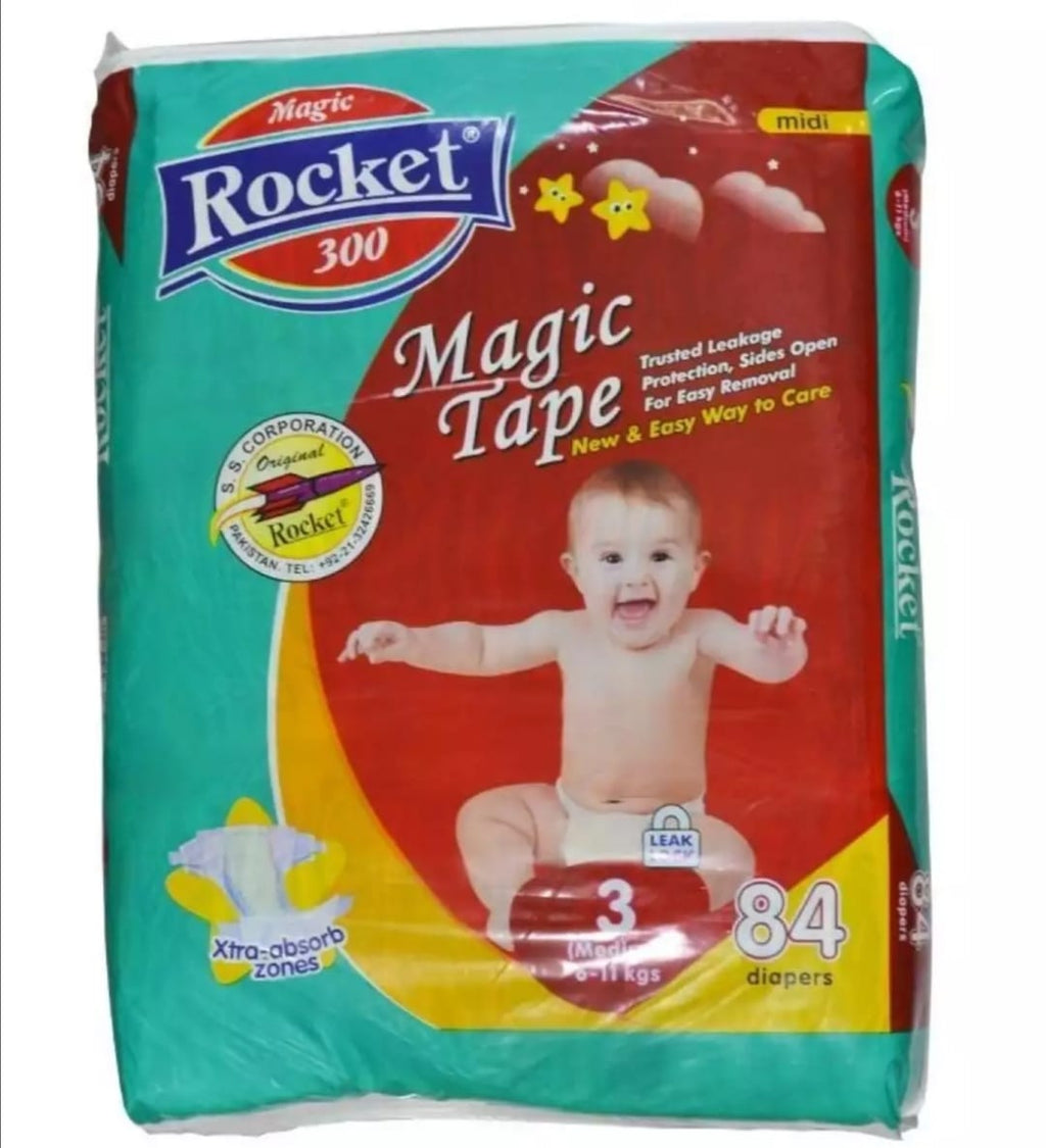 Rocket Magic Tape 3 Medium (6 - 11Kg) 84 Pcs