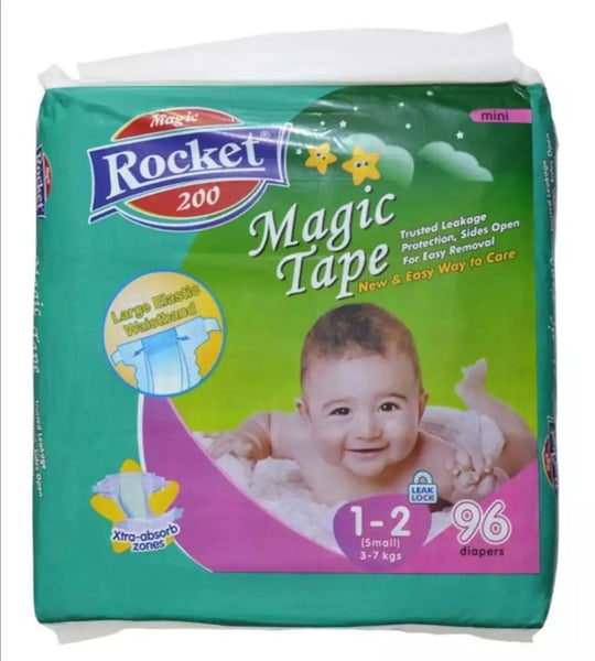 Rocket Magic Tape 1 - 2 Small (3 - 7kg) 96 Pcs