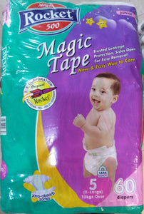 Rocket Magic Tape 5 (13+ Kg) X - Large 60 Pcs