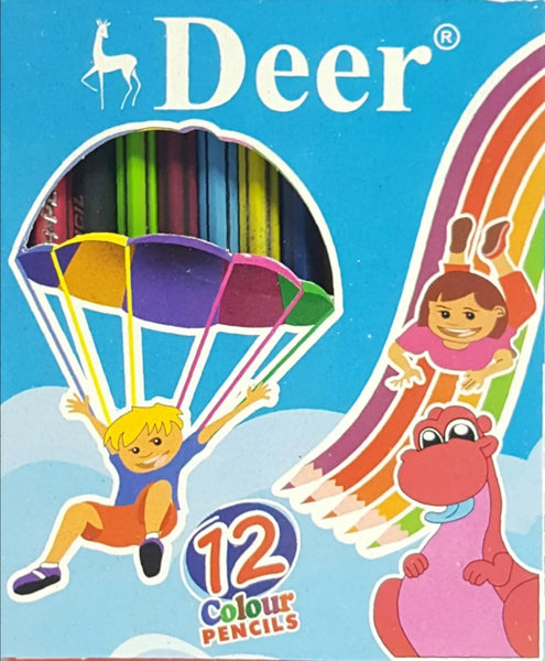 Deer Tikon Color Pencils 12 Pcs