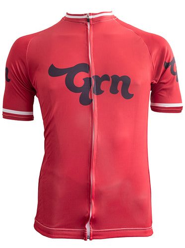 The Real Grn Cycle Jersey - Deep Red