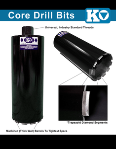 "5"" ASPHALT WET CORE BIT"