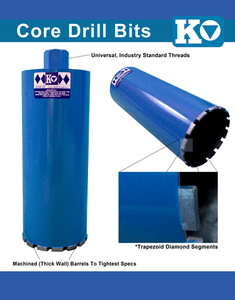 ".50"" Concrete professional wet core bit"