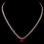 Cuban Link Ruby Necklace