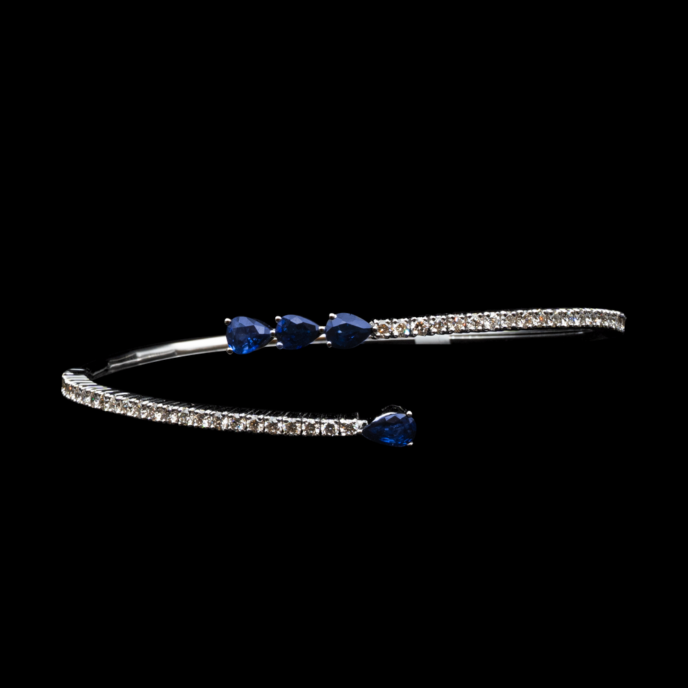 Load image into Gallery viewer, Sapphire Wave Bracelet