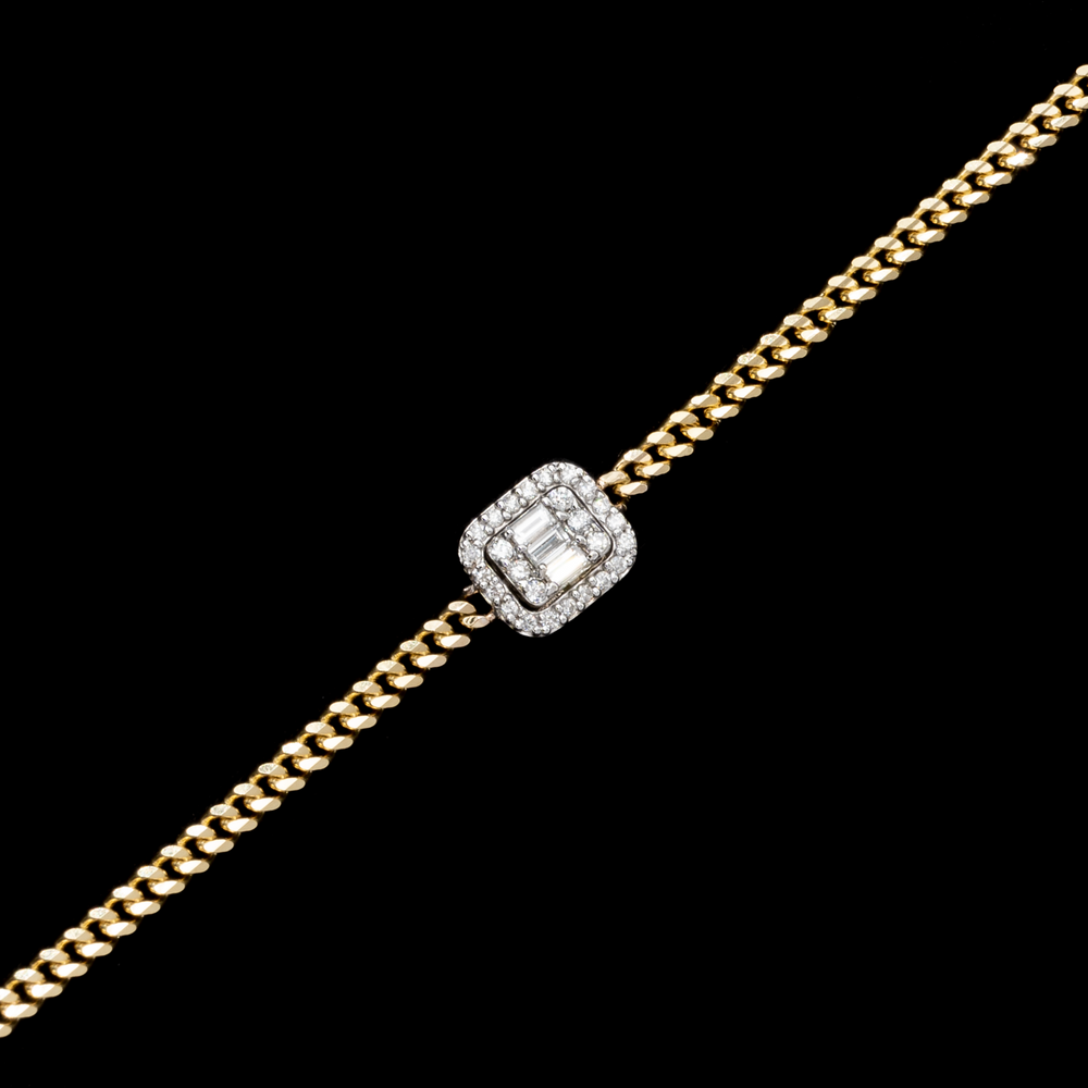 Load image into Gallery viewer, Diamond Square Bracelet