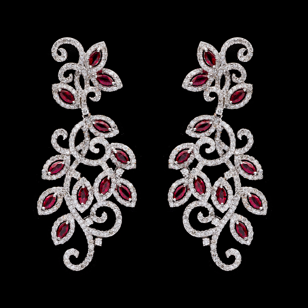 Load image into Gallery viewer, Ruby Ivy Earrings