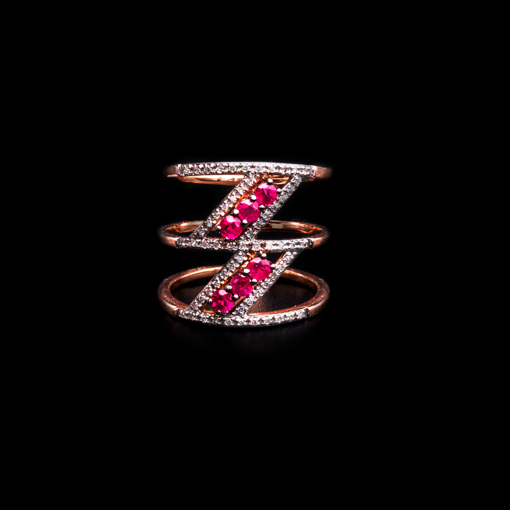 Zig Ruby Ring