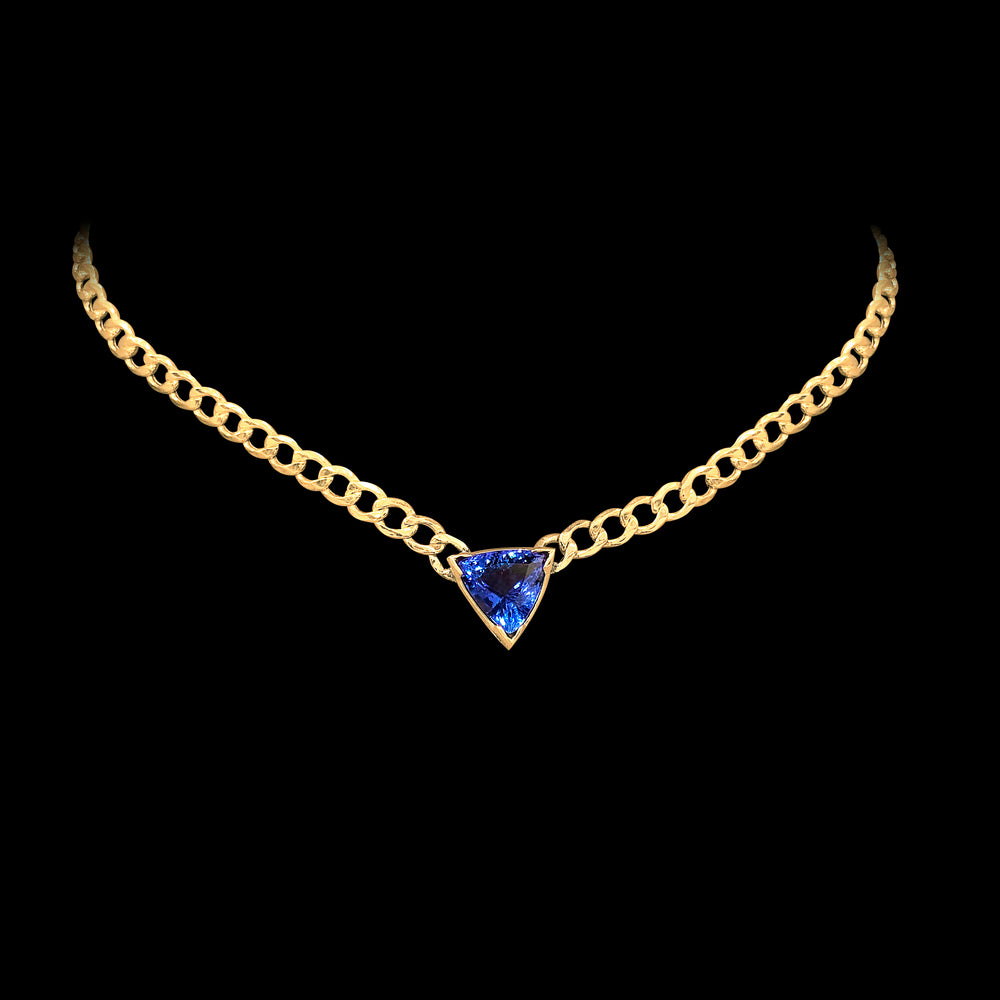 Cuban Tanzanite Necklace