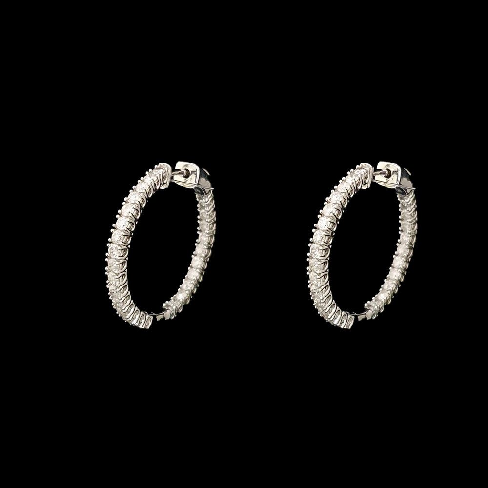 Classic Diamond Hoops