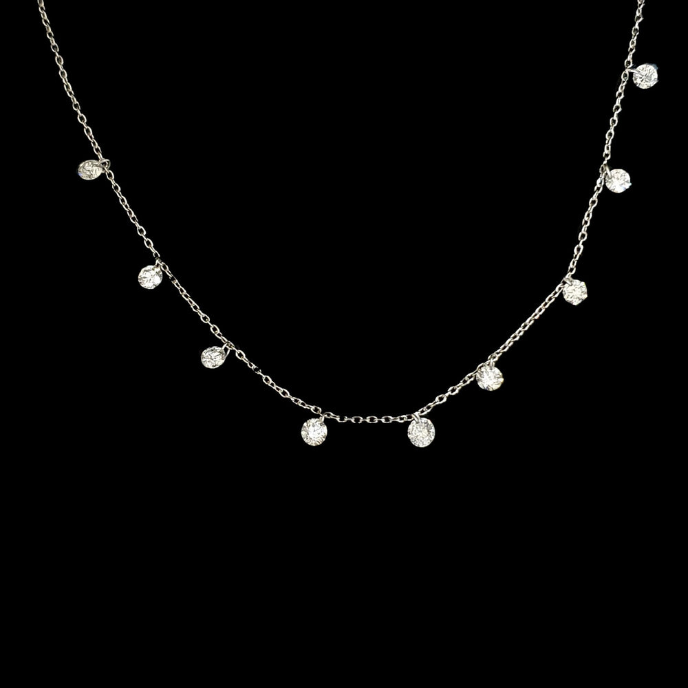Drilled Dancing Diamond Necklace