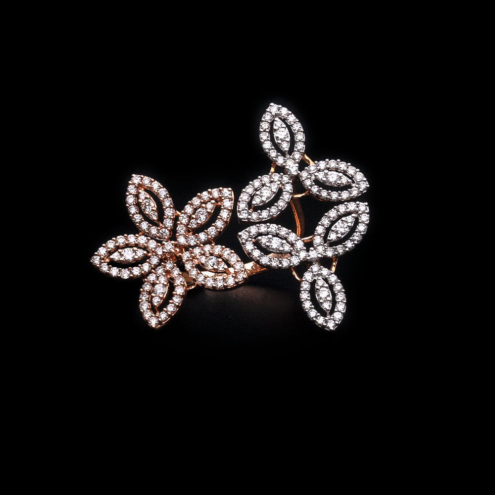 Clover Flower Side Ring