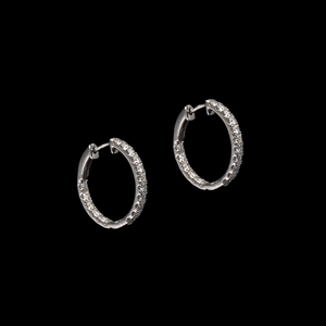 Diamond Small Hoops