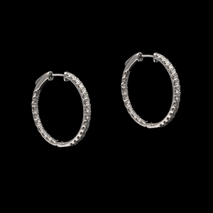 Diamond Medium Hoops