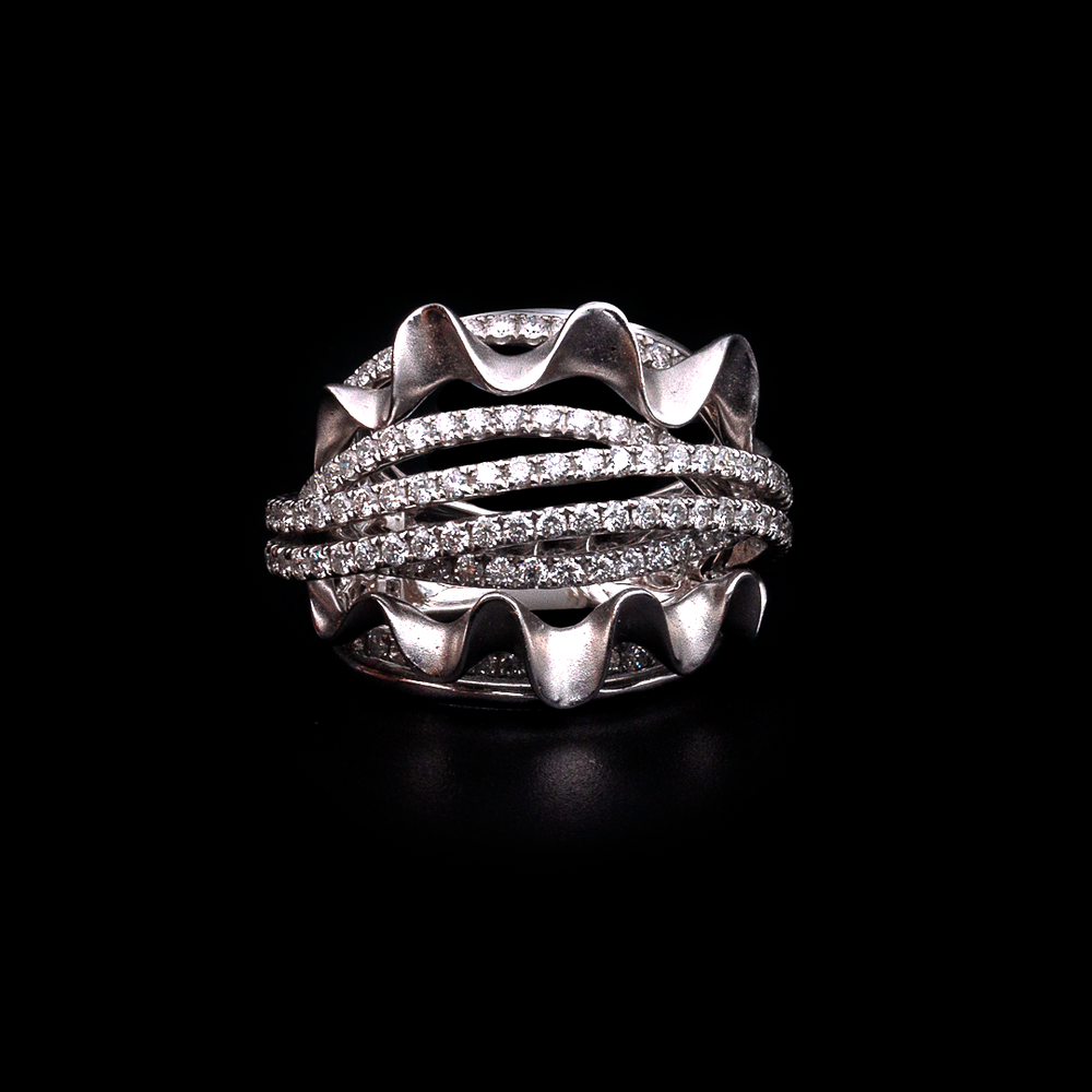 Diamond Shell Ring