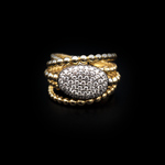 Oval Yellow Gold Ring