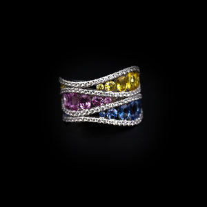 Load image into Gallery viewer, Colored Sapphire Ring