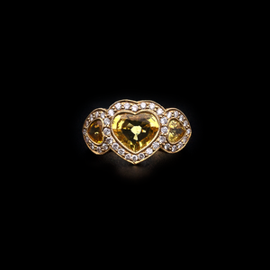 Heart Citrine Ring