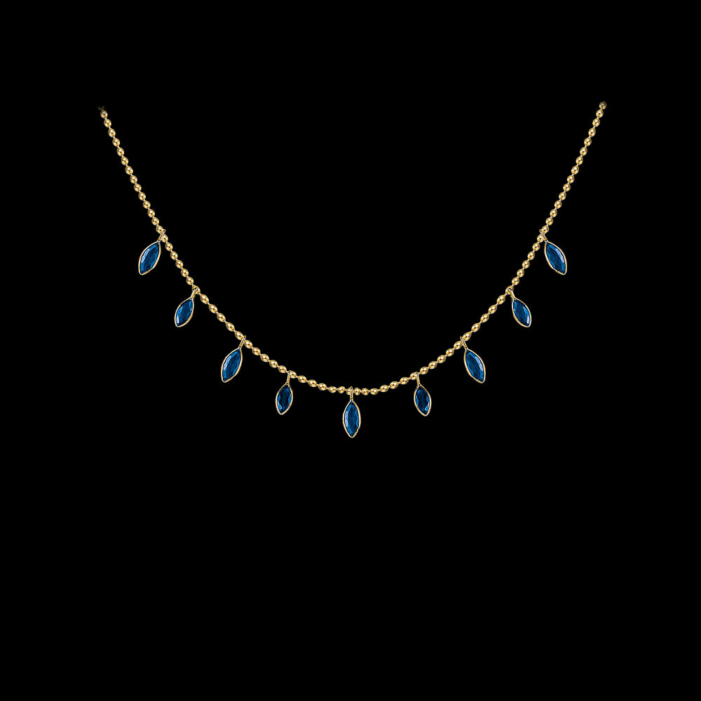 Dangling Sapphires Necklace