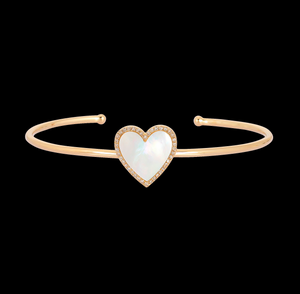Load image into Gallery viewer, Mother of Pearl Heart Cuff