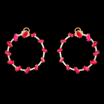 Inside Out Ruby Earrings