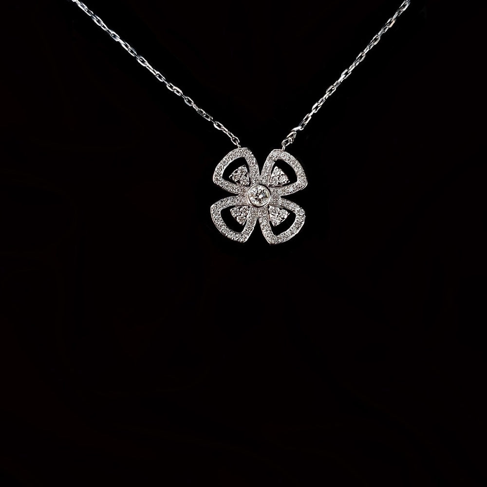 Four Petal Flower Necklace