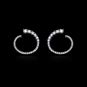 Load image into Gallery viewer, Inside-Out Diamond Earrings