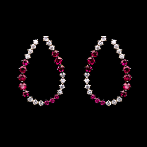 Load image into Gallery viewer, Inside-Out Ruby Earrings