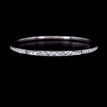 Emerald Cut And Round Diamond Bangle