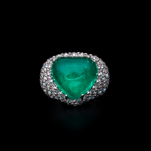 Colombian Emerald Cocktail Ring