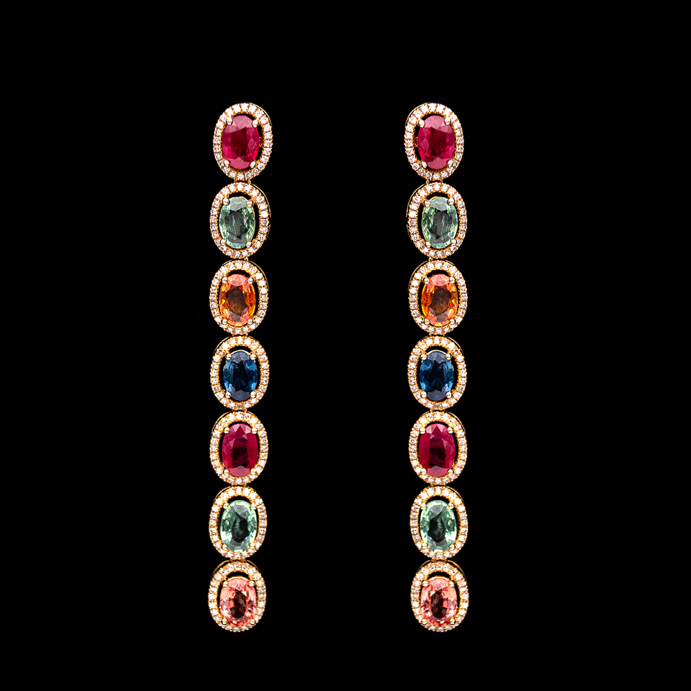 Load image into Gallery viewer, Colorful Line Earrings