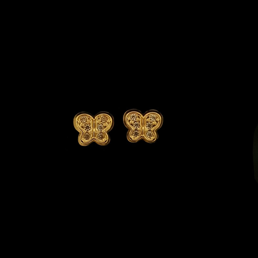 Load image into Gallery viewer, Gold Butterflies Earrings