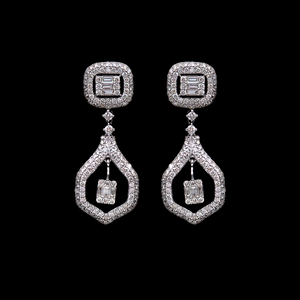 Load image into Gallery viewer, Diamond Hanging Earrings