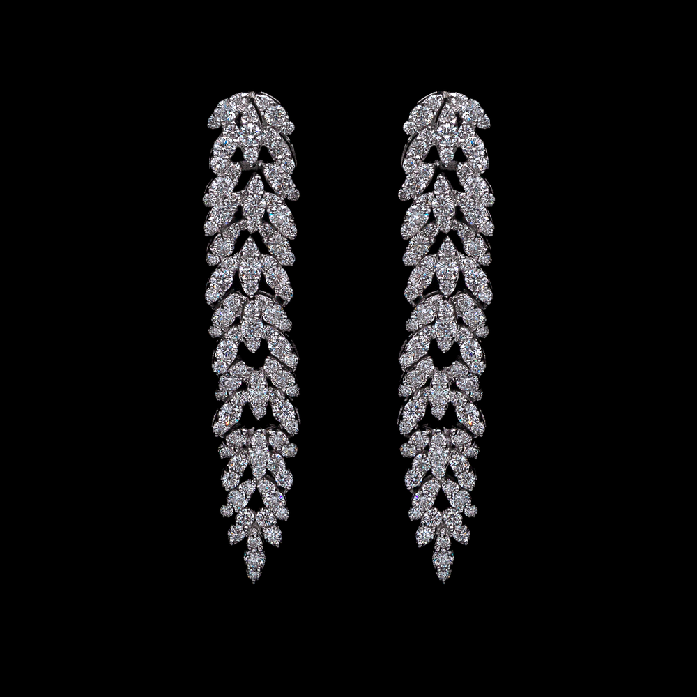 Diamond Modern Line Earrings