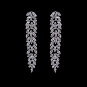 Load image into Gallery viewer, Diamond Modern Line Earrings