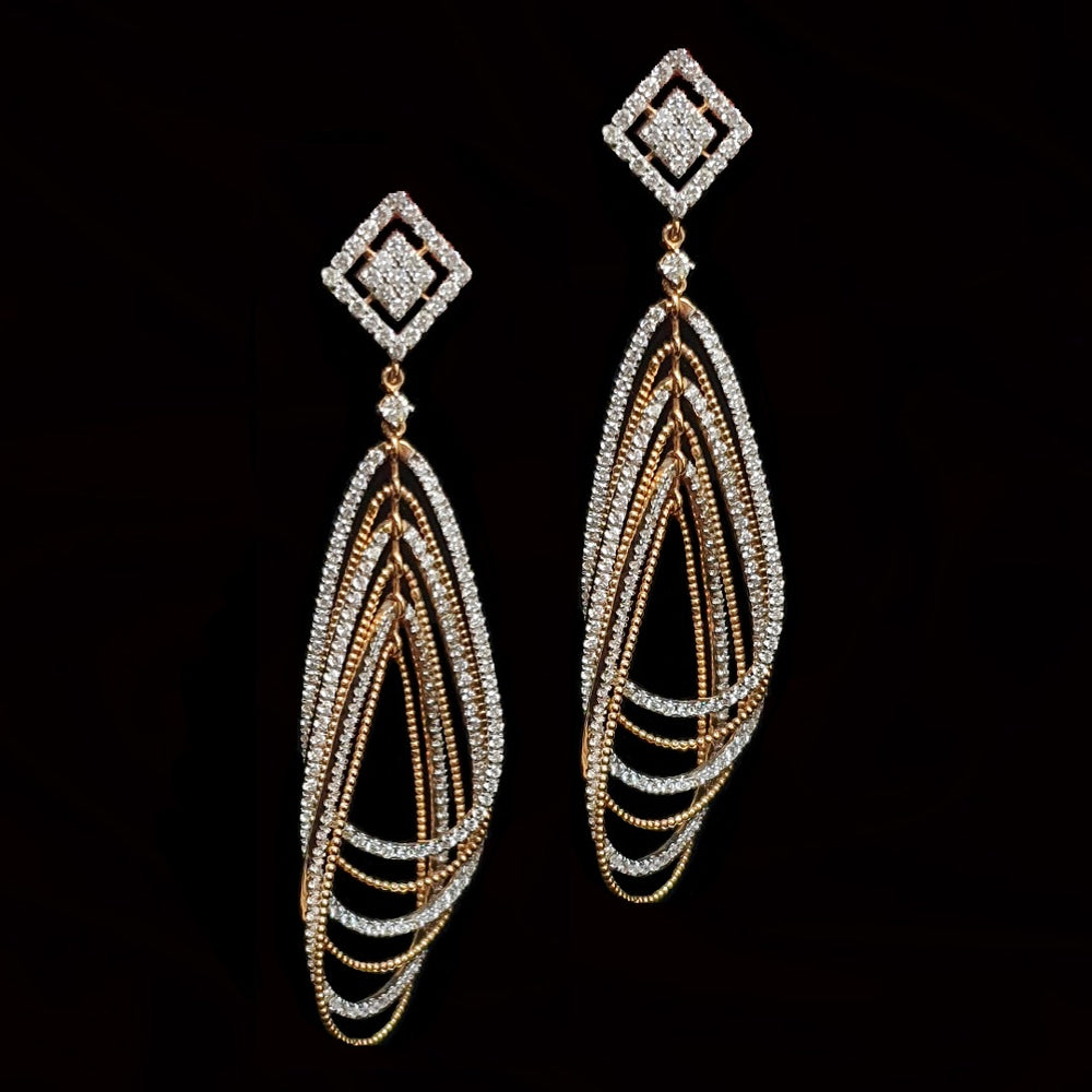 Load image into Gallery viewer, Italian Gold And Diamond Earring