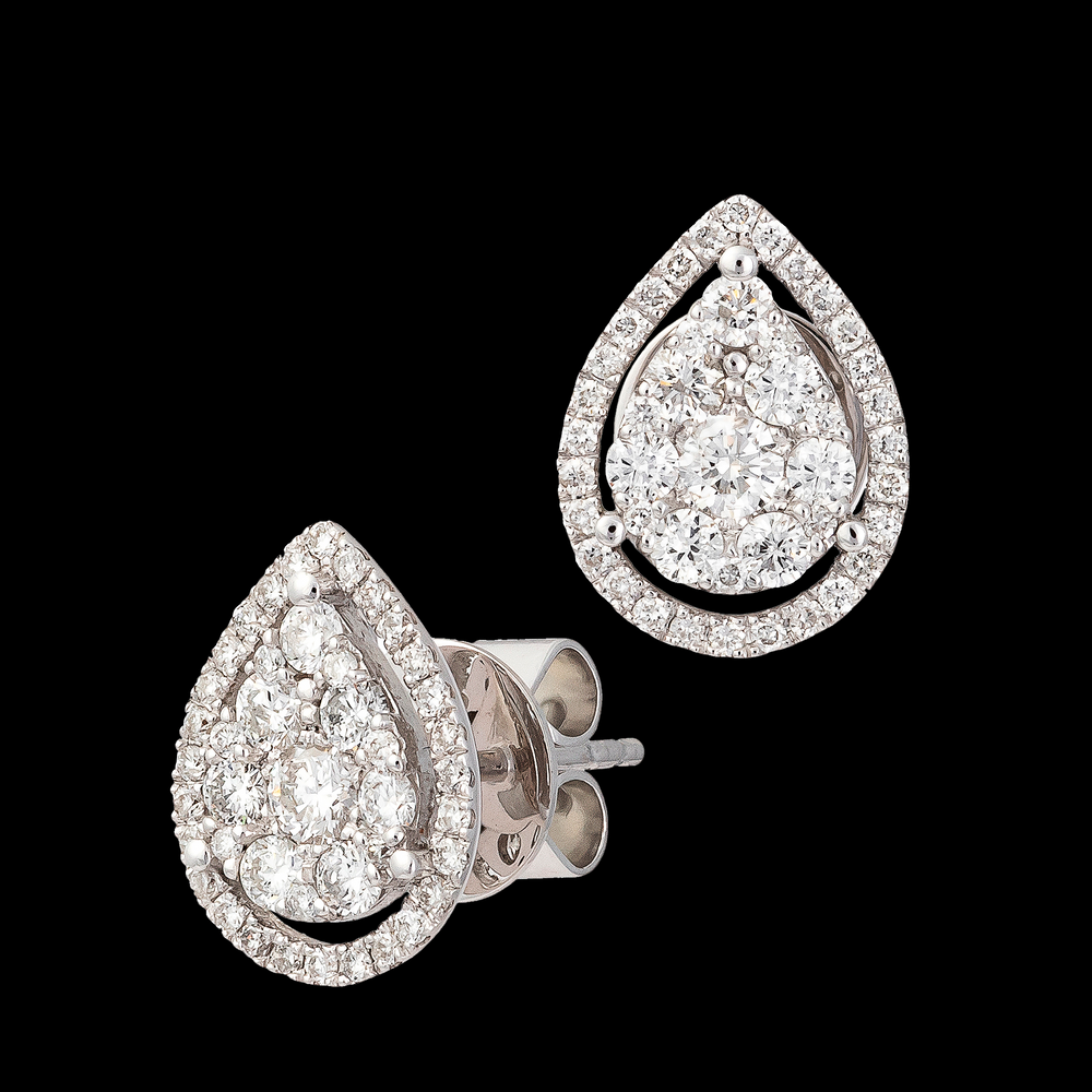 Pear Shape Pave Studs