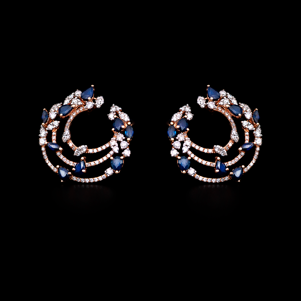 Inside-Out Sapphire Earrings