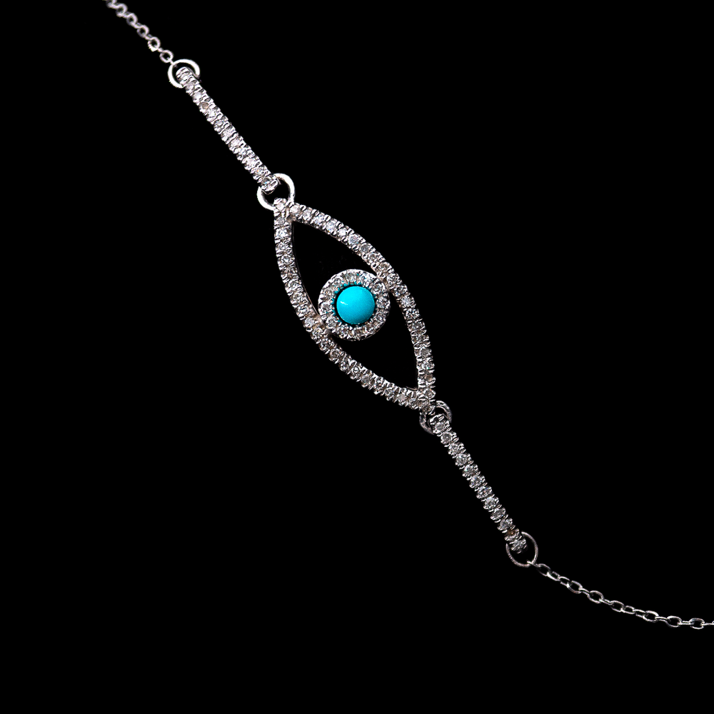 Load image into Gallery viewer, Turquoise Eye Bracelet
