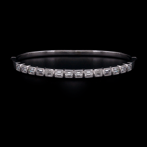 Emerald Cut Bangle