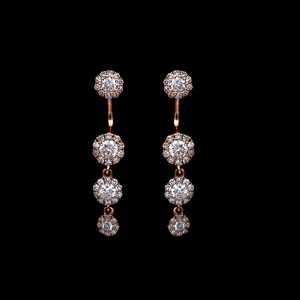 Load image into Gallery viewer, Top/Bottom Diamond Earrings