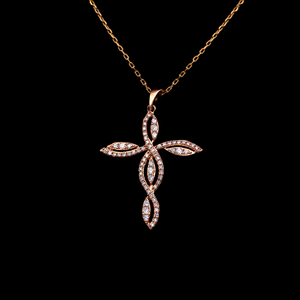 Load image into Gallery viewer, Pink Cross Pendant