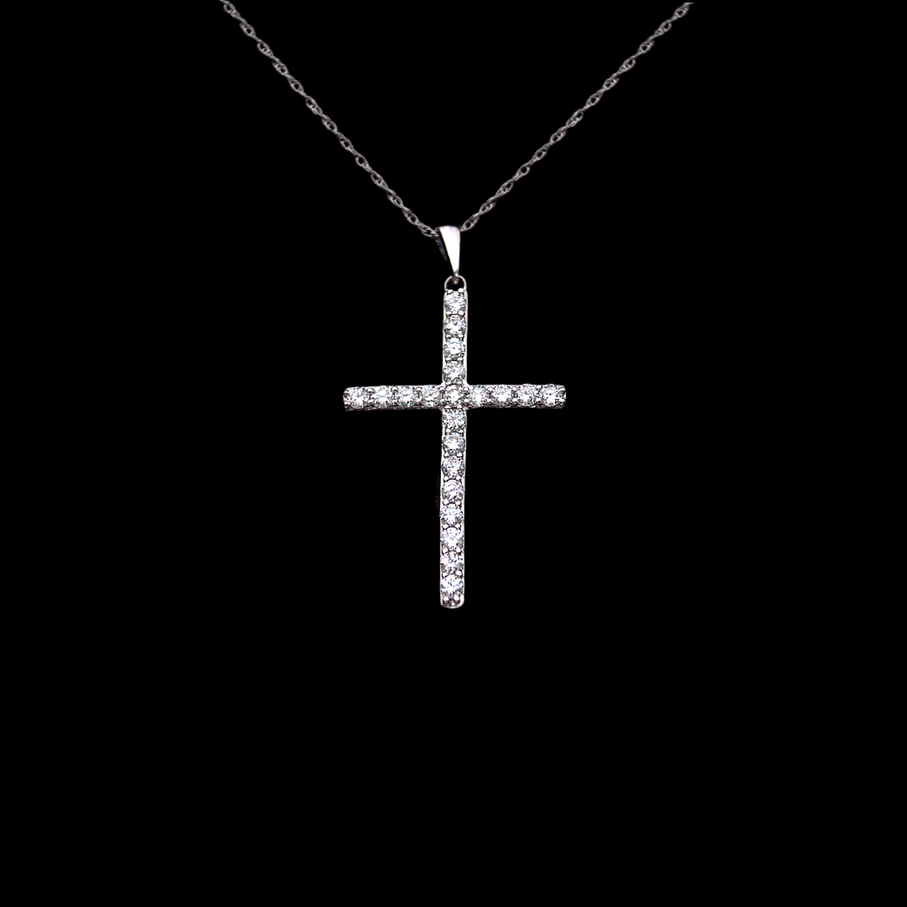 Load image into Gallery viewer, Classic Diamond Cross Pendant