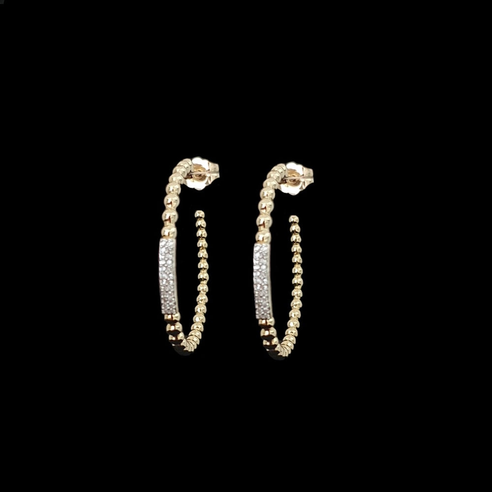 Load image into Gallery viewer, Gold Beads Hoops