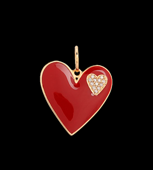Load image into Gallery viewer, Red Heart Charm