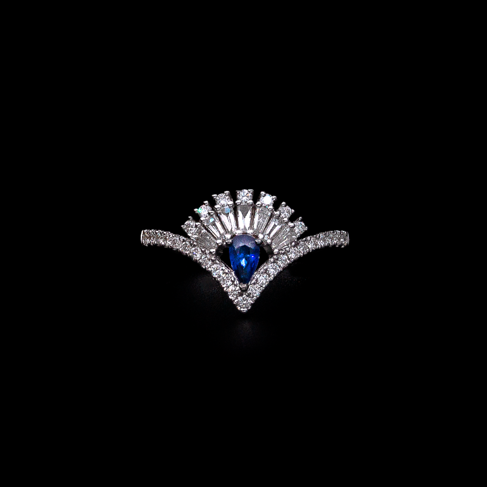 Load image into Gallery viewer, Modern Sapphire Ring