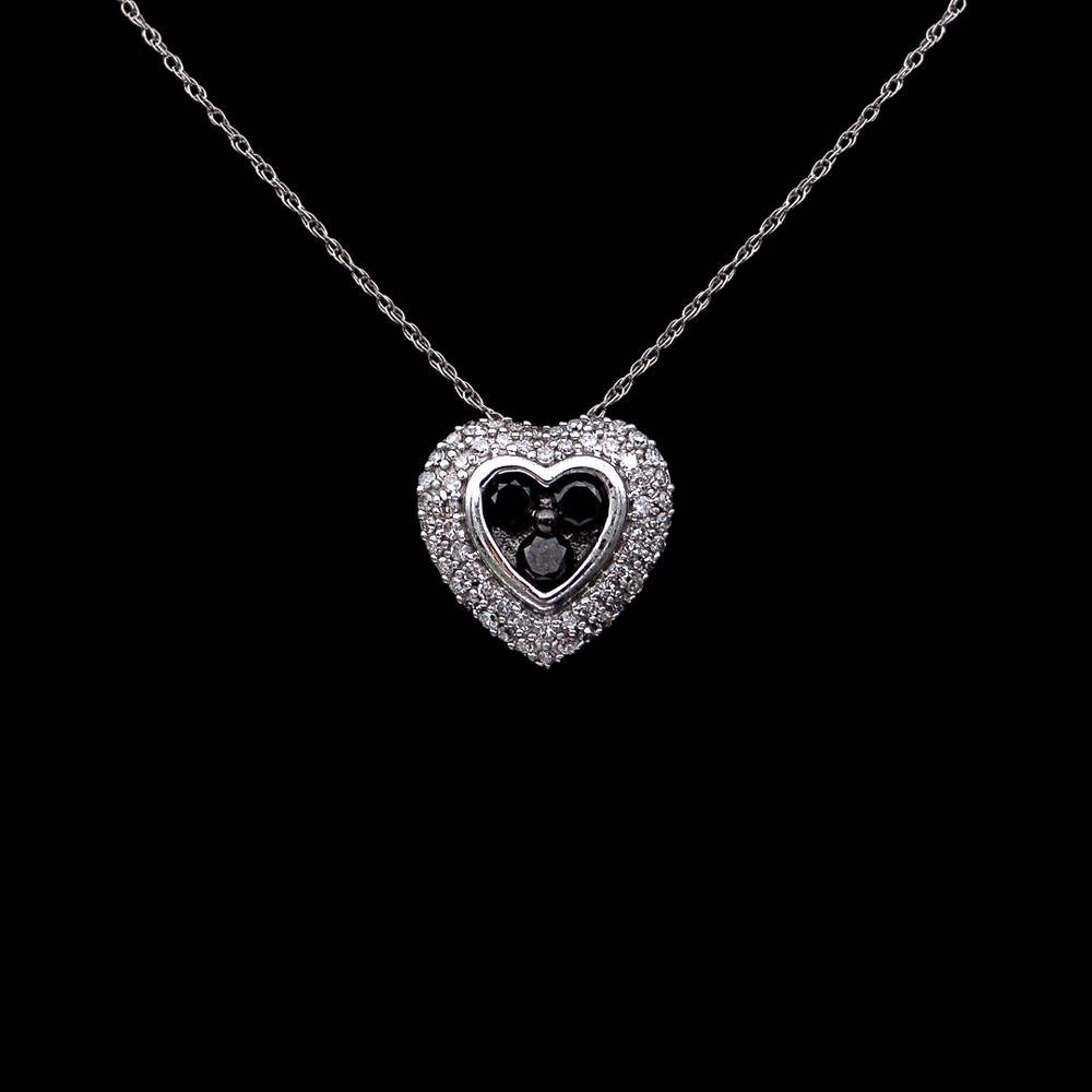Black&White Heart Necklace